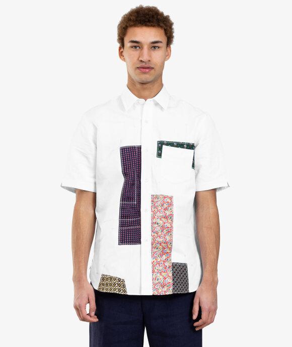 Junya Watanabe MAN - Patchwork Short Sleeve Shirt