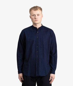 Blue Blue Japan - Flannel Band Collar Shirt
